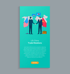Trade relations us and china conference vector