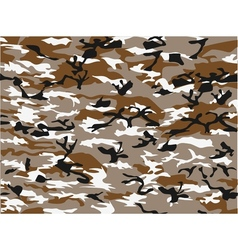 URBAN CAMOUFLAGE WHITE BROWN vector image
