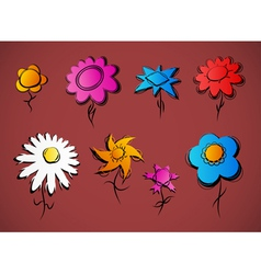 various floral design vector image