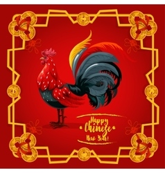 Chinese New Year zodiac rooster poster design vector image vector image