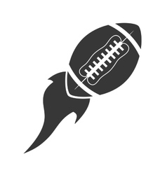 flying ball american football icon vector image