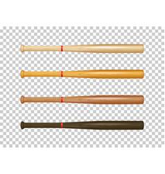 illistration of realistic wooden baseball bat icon vector image