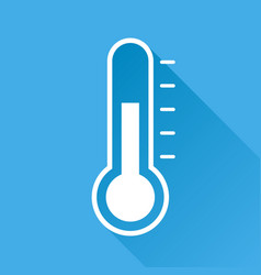 thermometer icon goal flat isolated on blue vector image