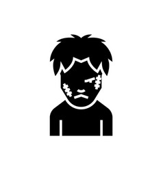 zombie icon black sign on vector image