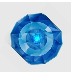 abstract gem and blue ice vector image vector image