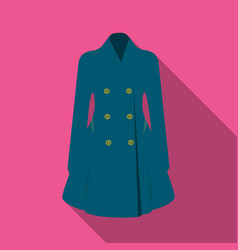blue female restrained coat buttoned women s vector image