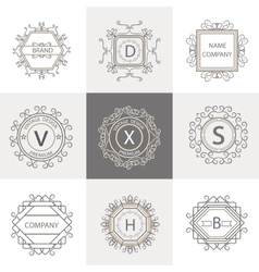 Set logos business signs ornament vector image vector image