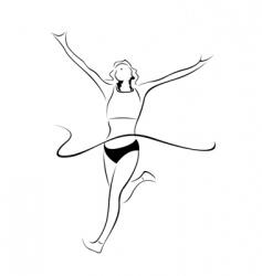 athlete sketch vector image