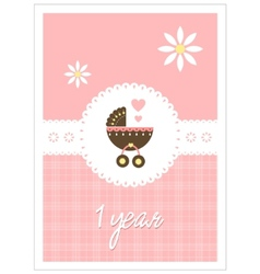 baby card - girl vector image