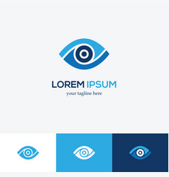 blue eye logo vector image