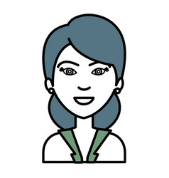 businesswoman avatar character icon vector image vector image