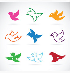 group of bird design on white background bird vector image