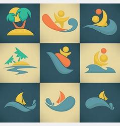summer attractions vector image