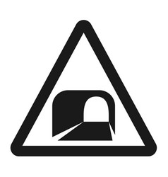tunnel ahead sign line icon vector image vector image
