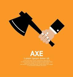 Axe In Hand vector image