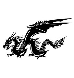 black dragon sign vector image vector image