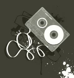 cassette grunge style of music vector image vector image