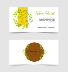 Design template cards vector image