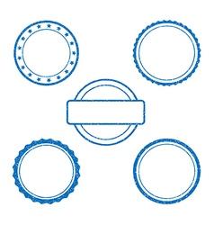 Ink stamp set rubber vector image
