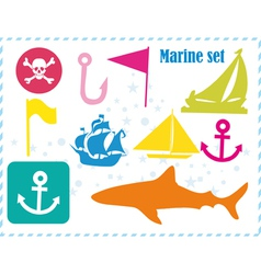 ostcard with pirates set vector image