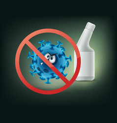 Stop sign on bacterium character vector