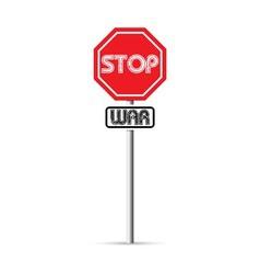 stop war signs vector image vector image