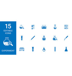 15 experiment icons vector
