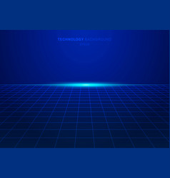 Abstract blue digital technology square grid vector