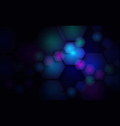 abstract blue hexagons technology futuristic vector image