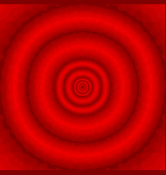 abstract red wavy background with concentric vector image