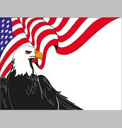 american eagle with usa flag eps 10 vector image