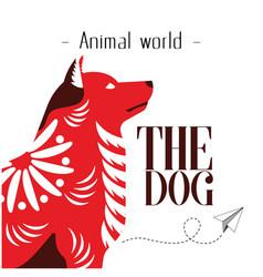 animal world the dog paper plane background vector image