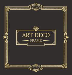 Art deco border frame 03 vector