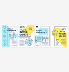 Artificial intelligence technology brochure vector