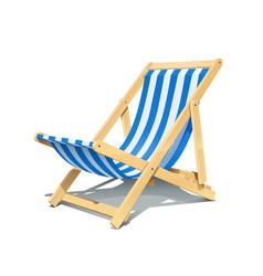 beach chaise longue vector image