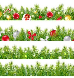 Big Borders Set With Christmas Tree vector image vector image