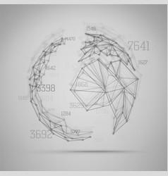 Big data visualization abstract earth globe vector