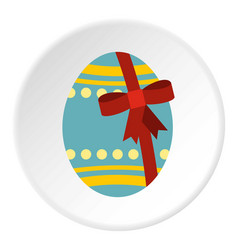Big easter egg icon circle vector