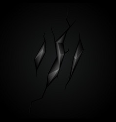 black abstract polygonal vector image