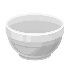 Bowl of oilolives single icon in monochrome style vector