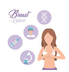 Breast cancer woman survivor treatment vector