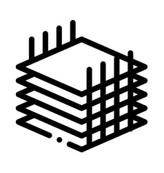 Building sheets for home icon outline vector