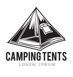 camping vintage tent adventure outdoor logo 11 vector image