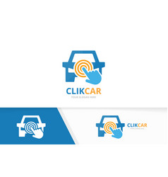 car and click logo combination vehicle and vector image