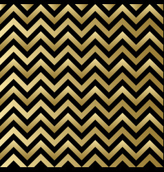 Chevron black and gold pattern vector