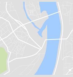 city map scheme roads vector image