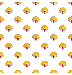 clown face pattern vector image