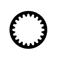 Cogged wheel with internal gearing vector