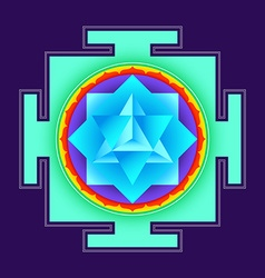 Colored merkaba yantra vector