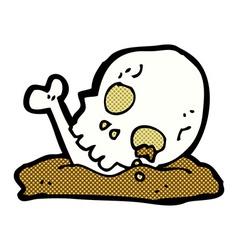 Comic cartoon old bones vector